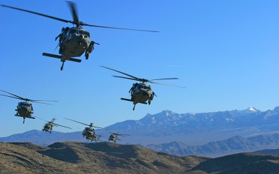 Blackhawk formation 03 - Nevada desert