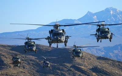 Blackhawk formation 02 - Nevada desert