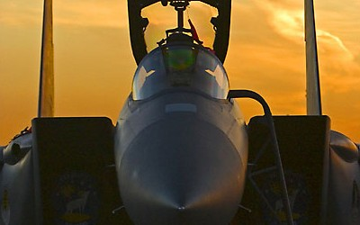 F15 at sunset 01