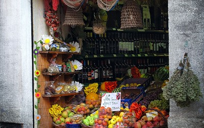 Fruit shop in Cefalu